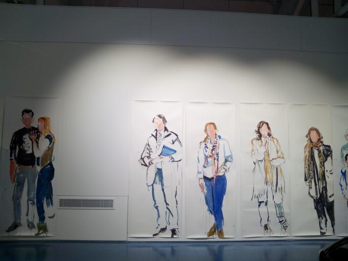 Esbozos realizados por el artista en vivo