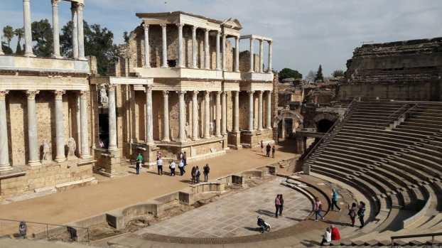 Teatro romano de Mérida, vista desde las gradas