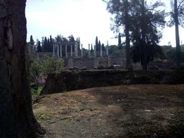 Vista de las ruinas del teatro de Mérida