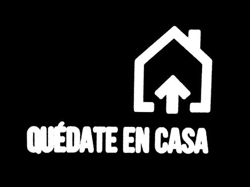 Logotipo de Quédate en casa del grupo A3, con el icono de una casa
